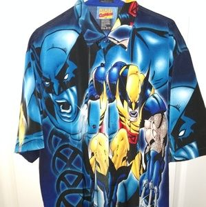 Vintage Wolverine Marvel Comics Button Down